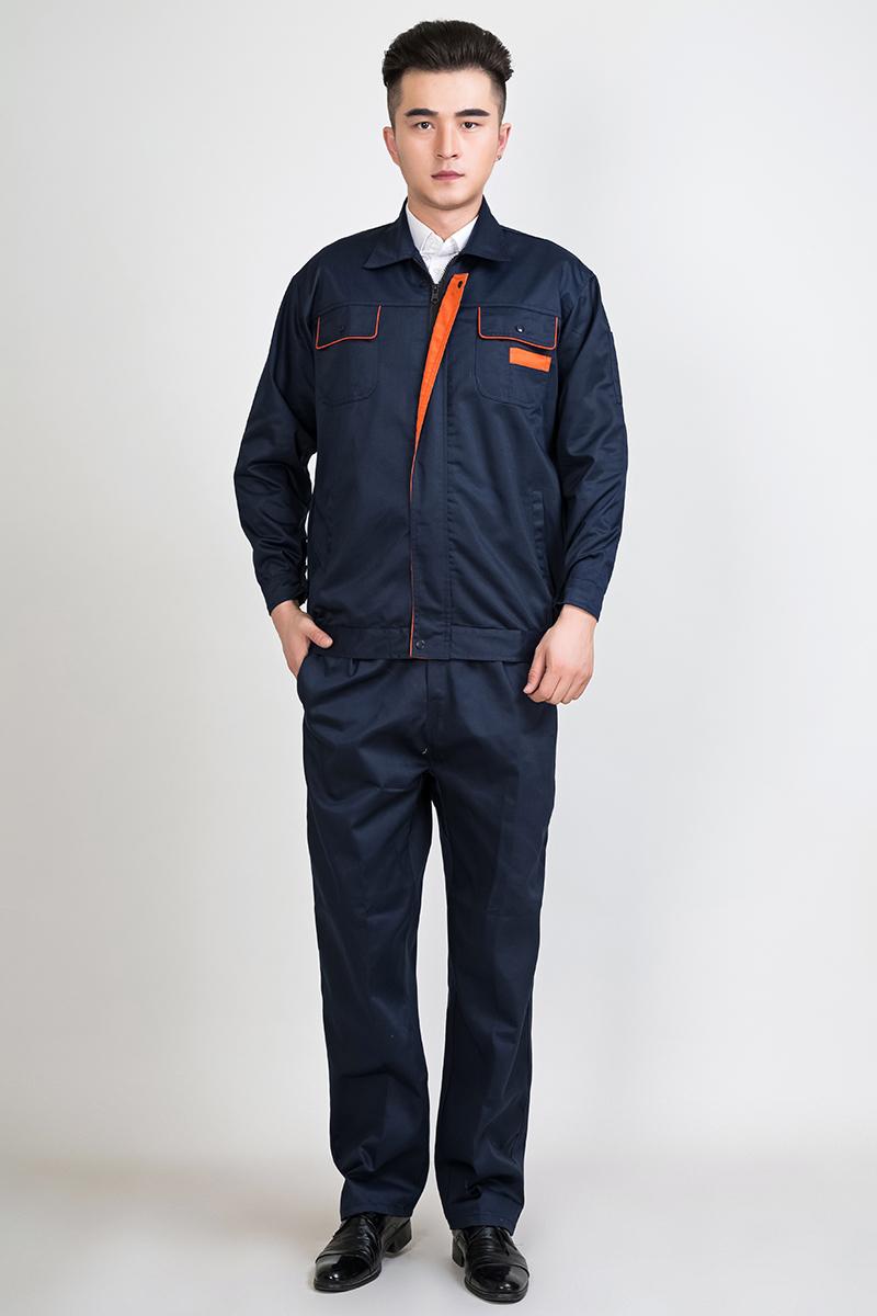 长袖工作服套装男耐磨冬季车间工服上衣定制汽修服工装维修劳保服