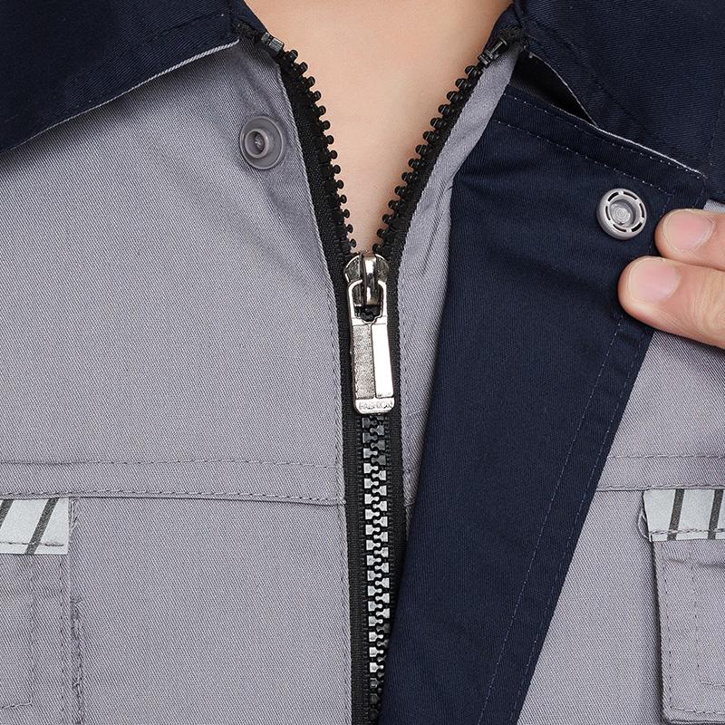 夏季新款短袖套装男女透气网工地工人劳保服车间厂服工作服定制