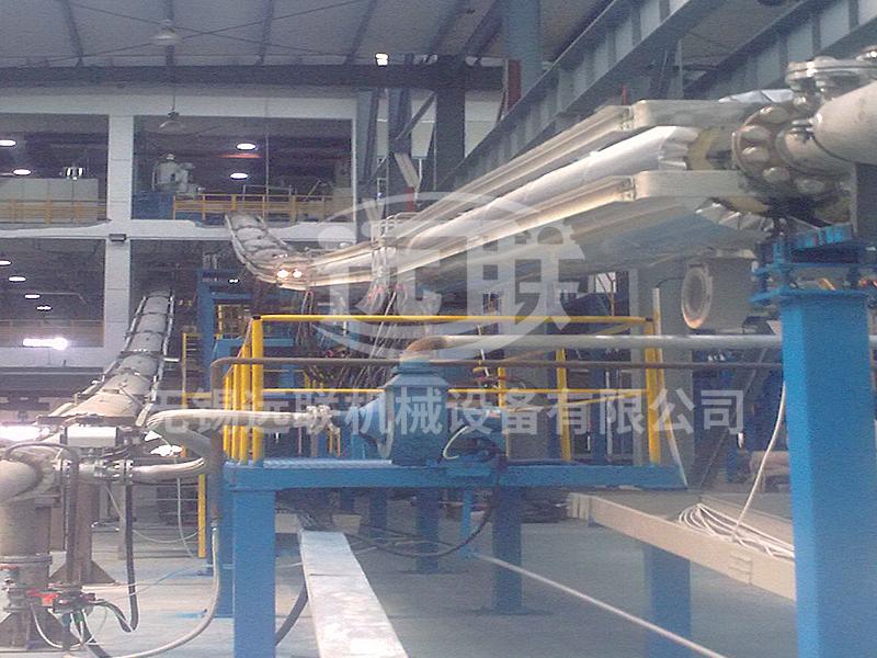 交联电缆生产线安装现场