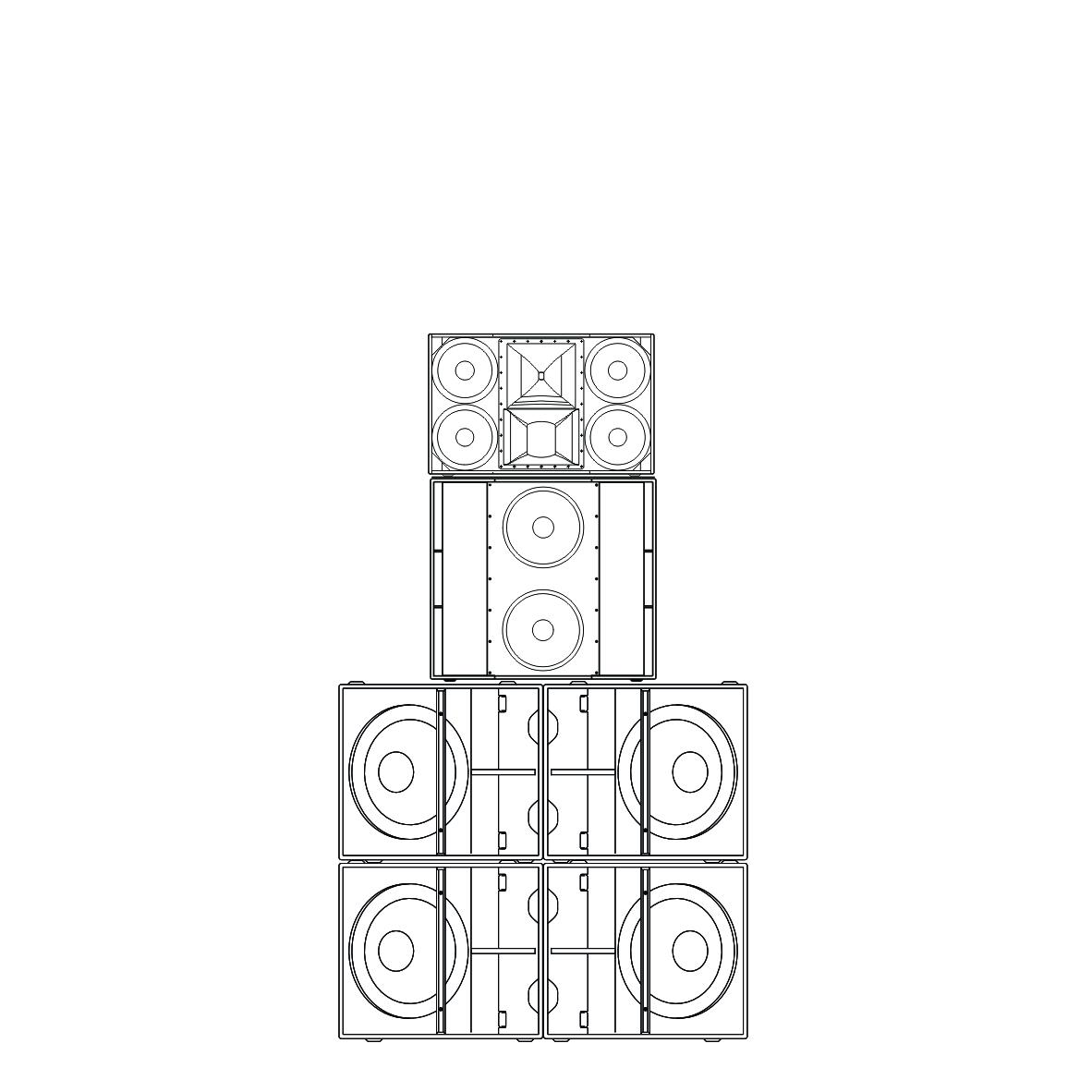 SL412系列 中型点声源五分频点阵系统