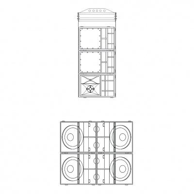 ES1.0系列 中小型点声源五分频点阵系统
