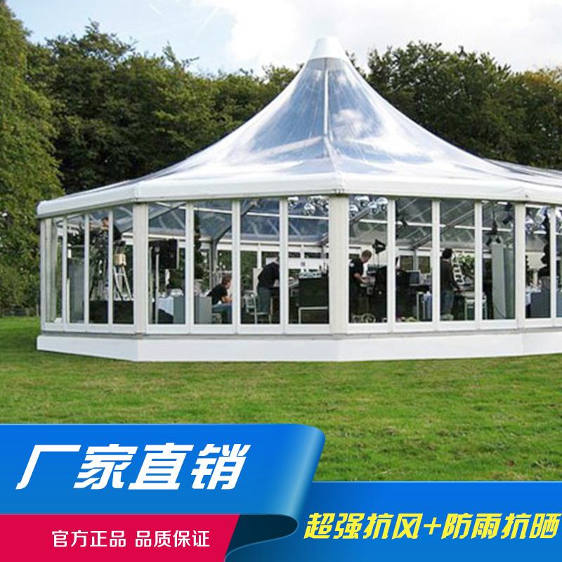 欧式户外定制尖顶婚庆篷房大小型铝合金移动会展蓬房仓储篷房