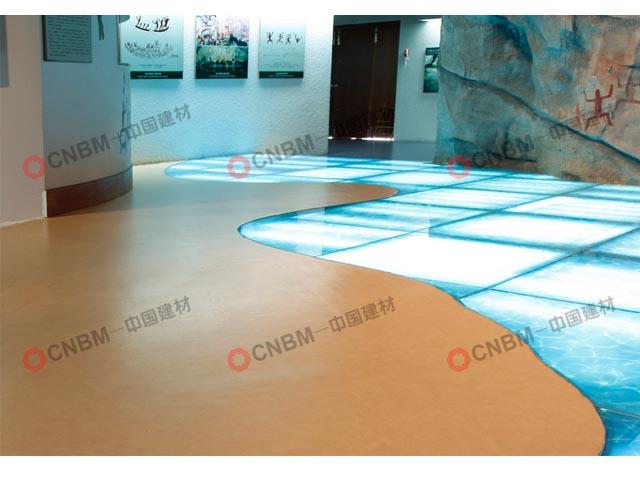民俗文物院展廳PVC地板