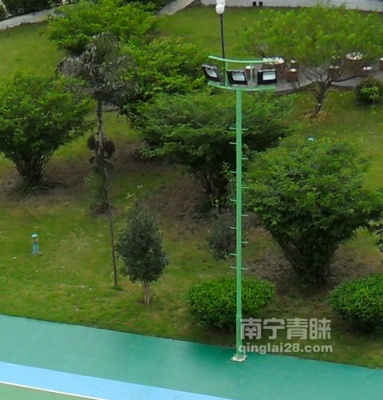 綠色直爬桿燈柱