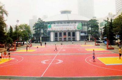河南少體育館拼裝籃球場
