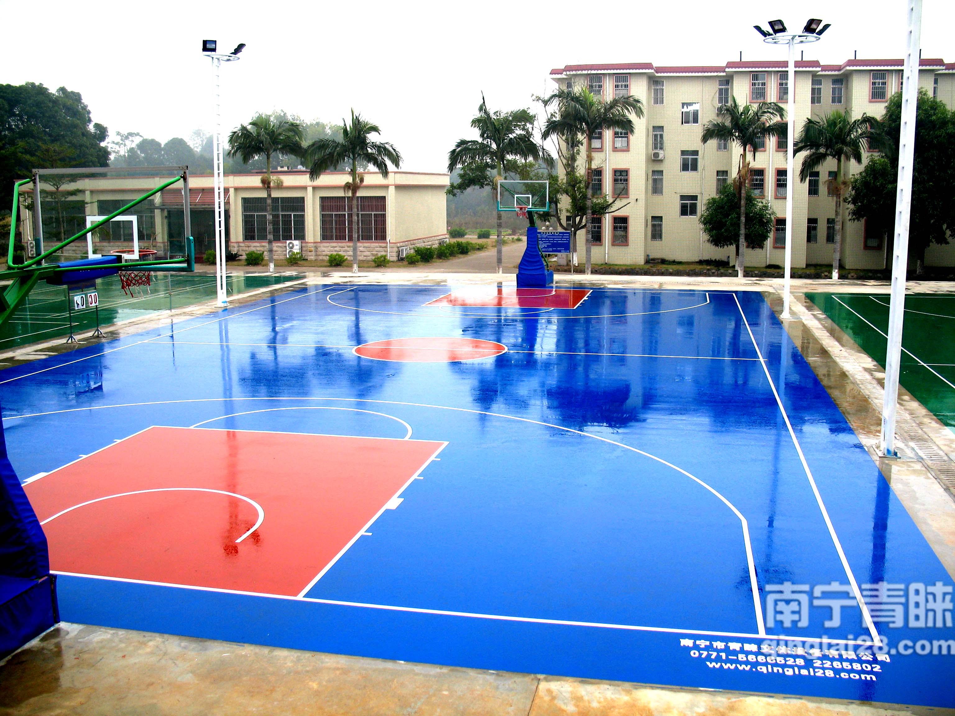 貴港硅PU籃球場