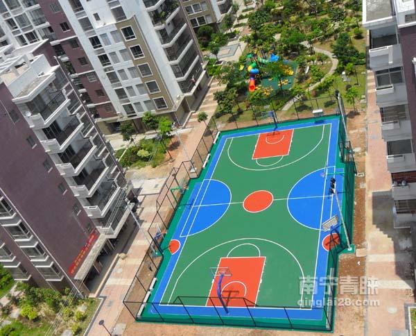 钦州悉尼阳光花园小区硅胶篮球场