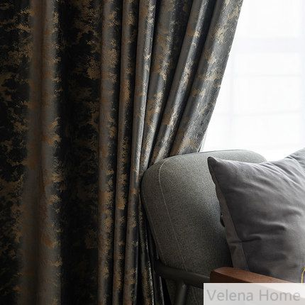 Glue Embossed Curtain