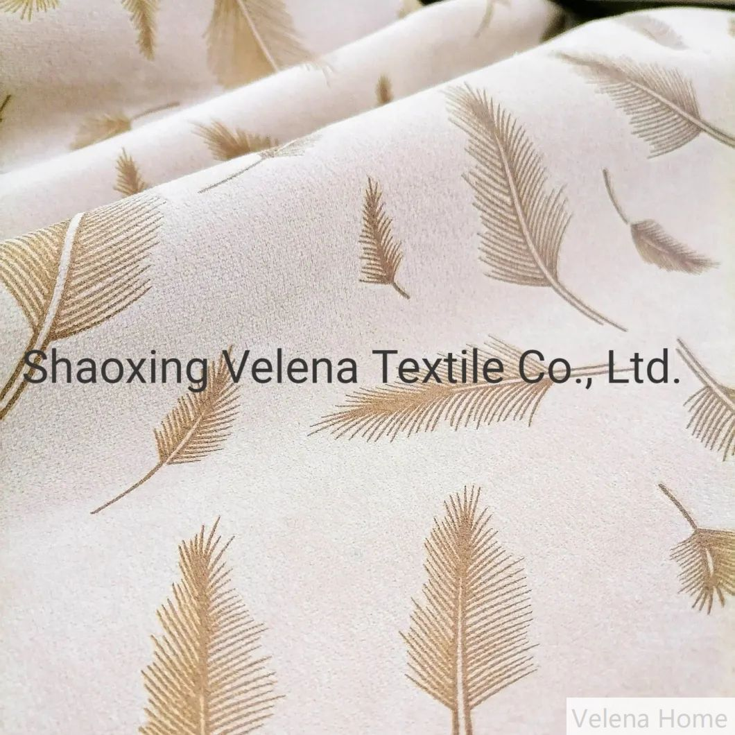 100%Polyester Holland Velvet Dyeing with Foil Upholstery Decorative Furniture Sofa Fabric Ready