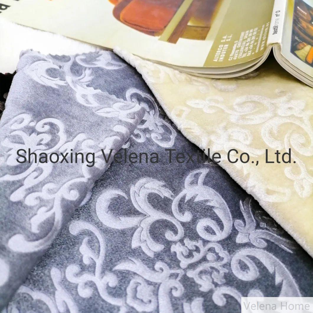 3D Emboss Knitting Italy Velvet Classical Upholstery Furniture curtain Sofa fabric