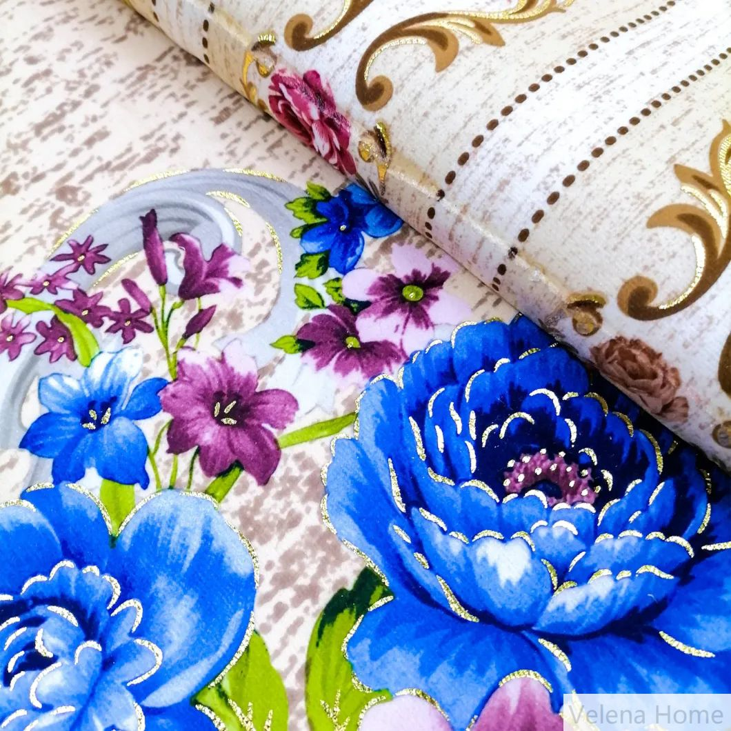 New Deisgn Luxury Fudan FDY Velvet with Printing and Foil Upholstery Furniture Fabric