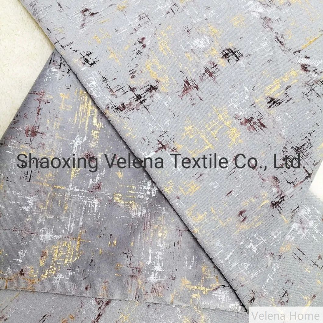 Holland Velvet Dyeing with Colorful Foil Knitted Upholstery Furniture Fabric