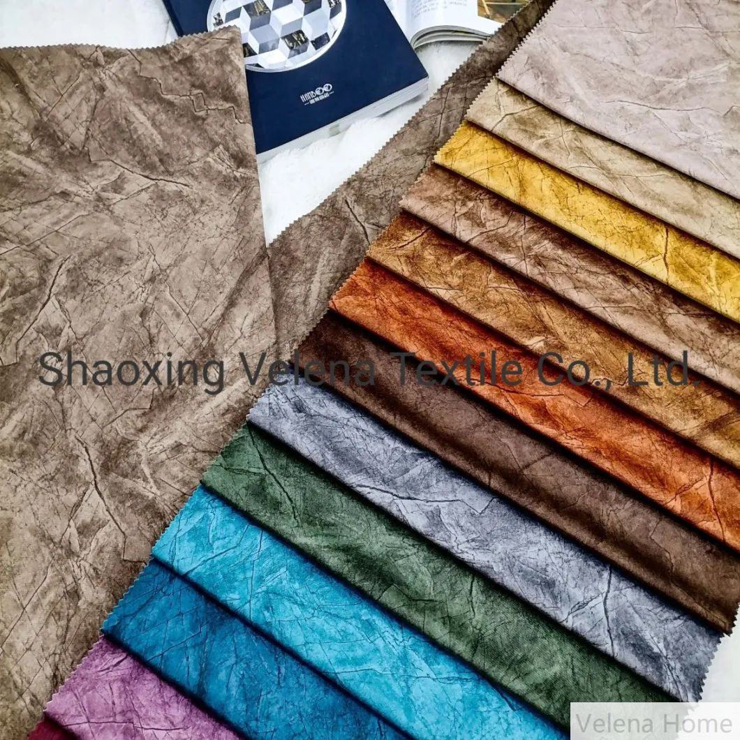 Holland Velvet Dyeing with Printing with Non-Wovean Backing Upholstery Home Textile