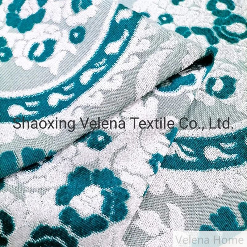 100%Polyester Two Tone Knit Jacquard Velvet Sofa and Curtain Fabric