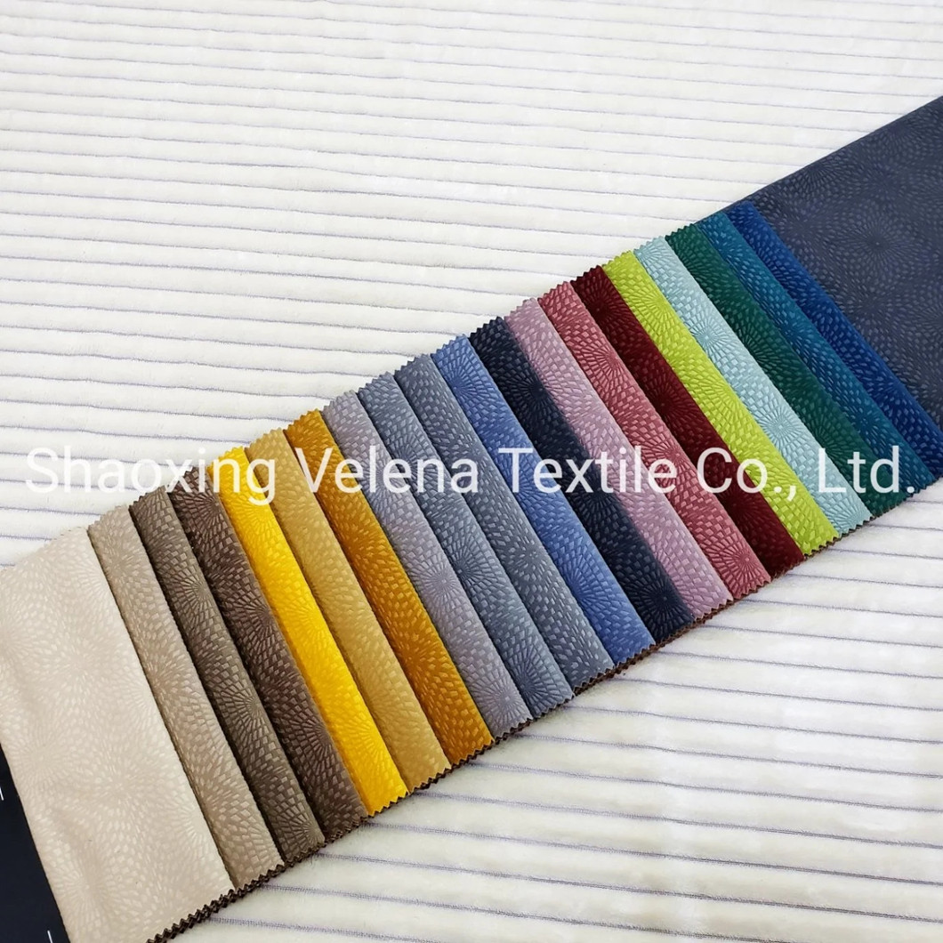 New Arrival Holland Velvet with Emboss Upholstery Furniture Fabric for Sofa and Curtain