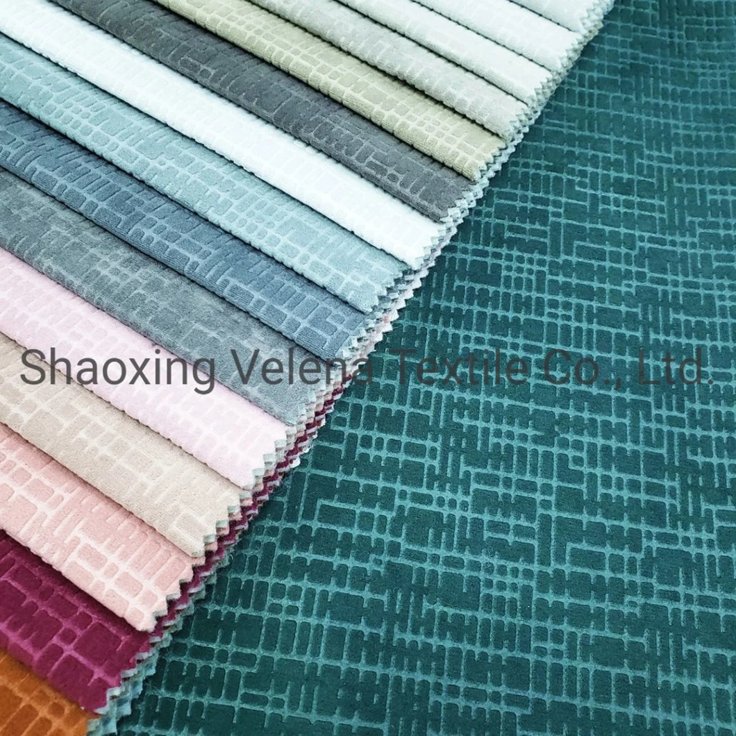 New Arrival Polyester Pearl Cashmere with Embossed Textile Upholstery Furniture Fabrics
