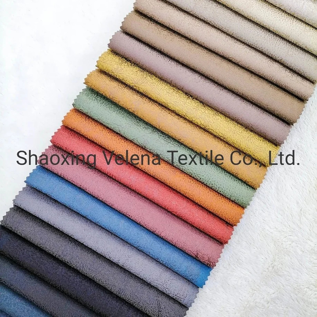 Holland Velvet Dyeing with Glue Emboss Upholstery Warp Knit Sofa Furniture Fabric