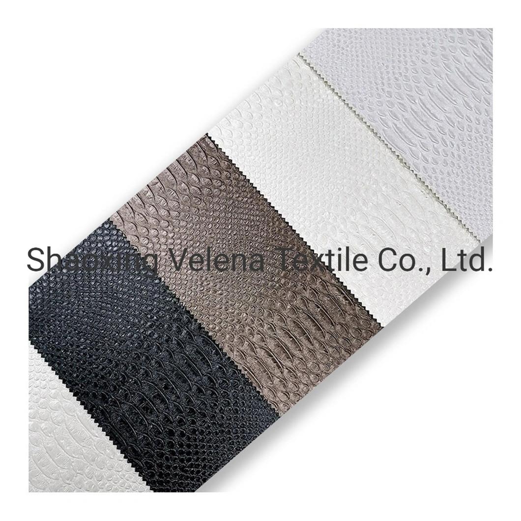 Embossed Microfiber PU Leather Sofa Fabric Seat Cover