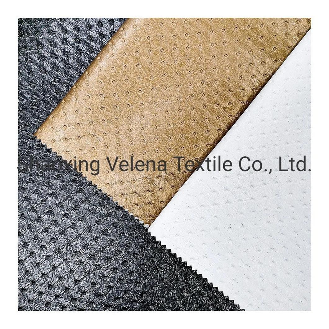 Microfiber PU Leather Embossed Seat Cover Shoes Sofa Handbag Fabric