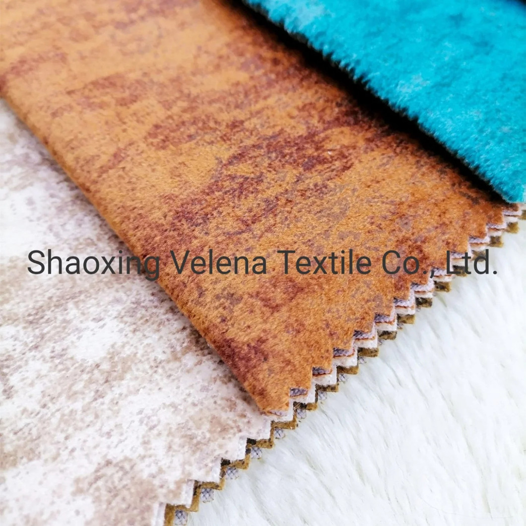 2021 New Holland Velvet Dyeing with Printing Glue Emboss Sofa Fabric