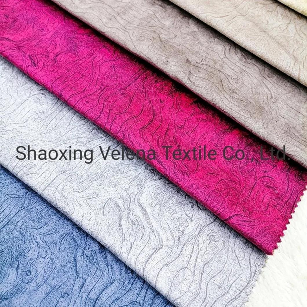 China Manufacturer Polyester Printing Upholstery Mosha Velvet Fabric for Sofa