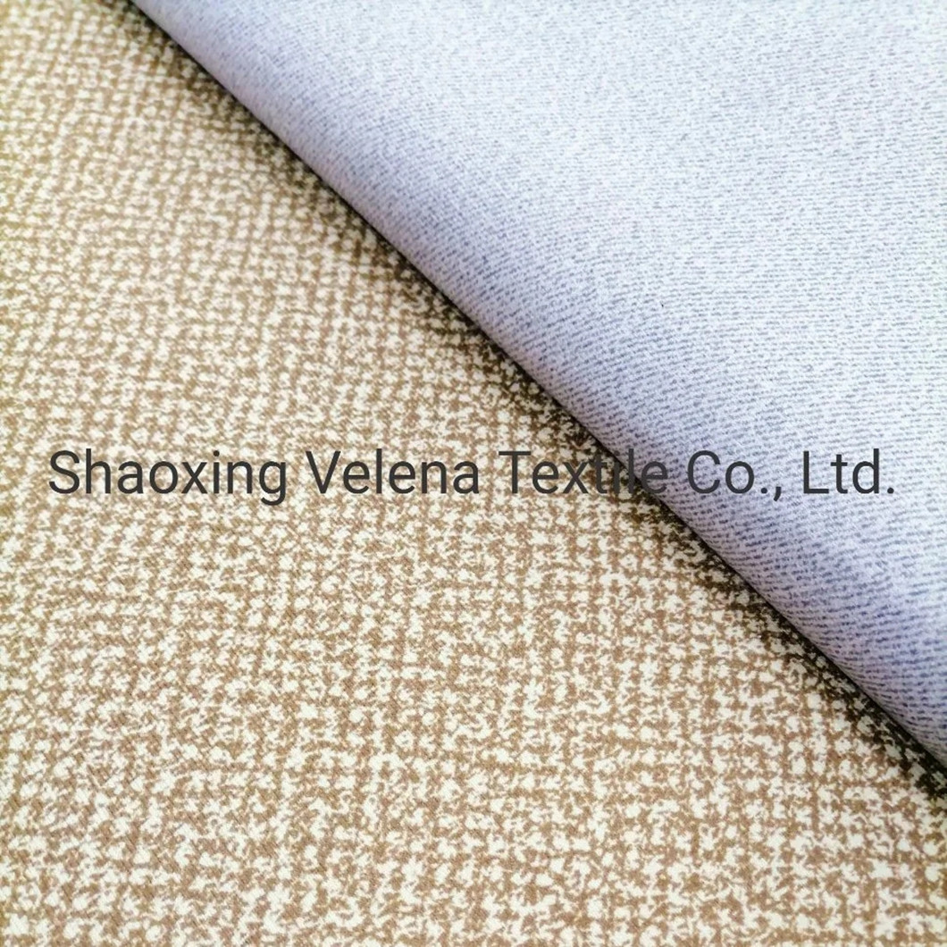 China Suppler Holland Velvet Dyeing with Glue Emboss Deluxe Fashion Soft Modern Upholstery Fabric