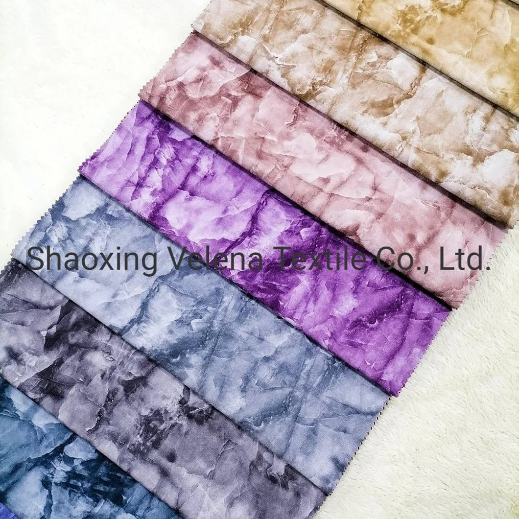 2021 New Design Holland Velvet Dyeing with Printing Fabric for Sofa