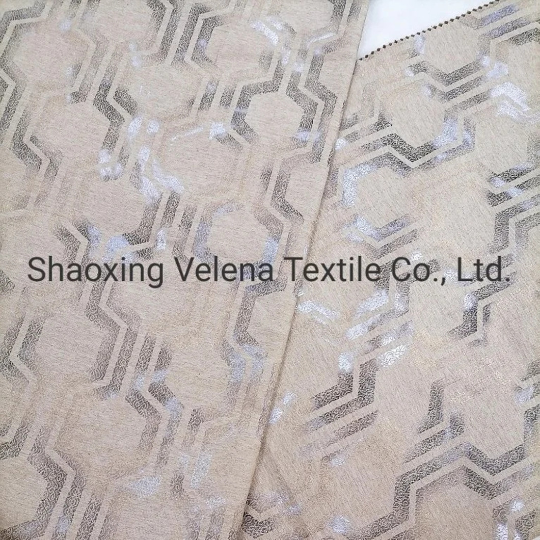 New Arrival Polyester Woven Suede Dyeing with Colorful Foil Upholstery Furniture Sofa Fabric