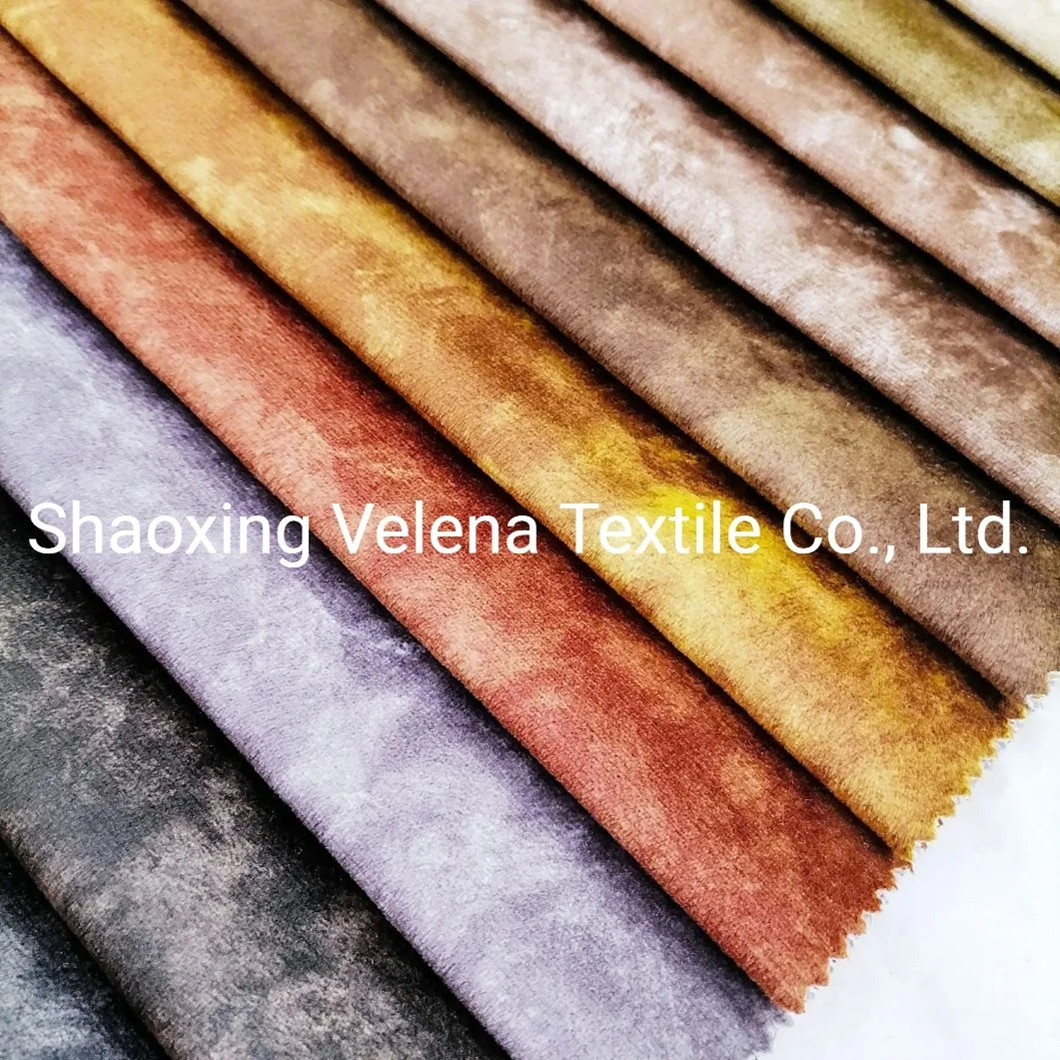2021 New Arrival Holland Velvet Dyeing and Printing Furniture Fabric for Sofas and Curtain