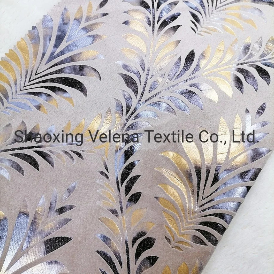 2021 Holland Velvet Dyeing with Shiny Colorful Foil Upholstery Fabric Home Textile