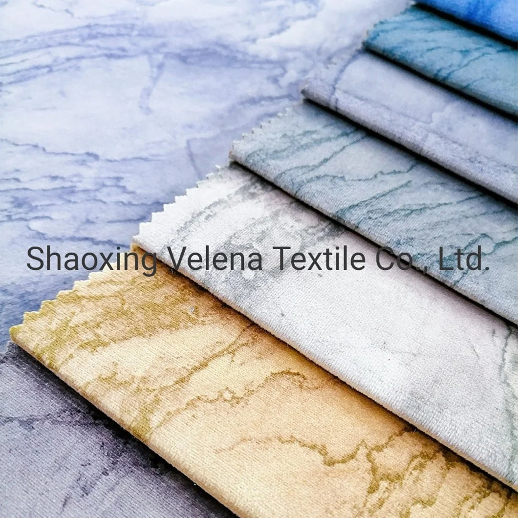 2021 Holland Velvet Dyeing with Print Upholstery Furniture Fabrics for Sofa and Curtain Fabric