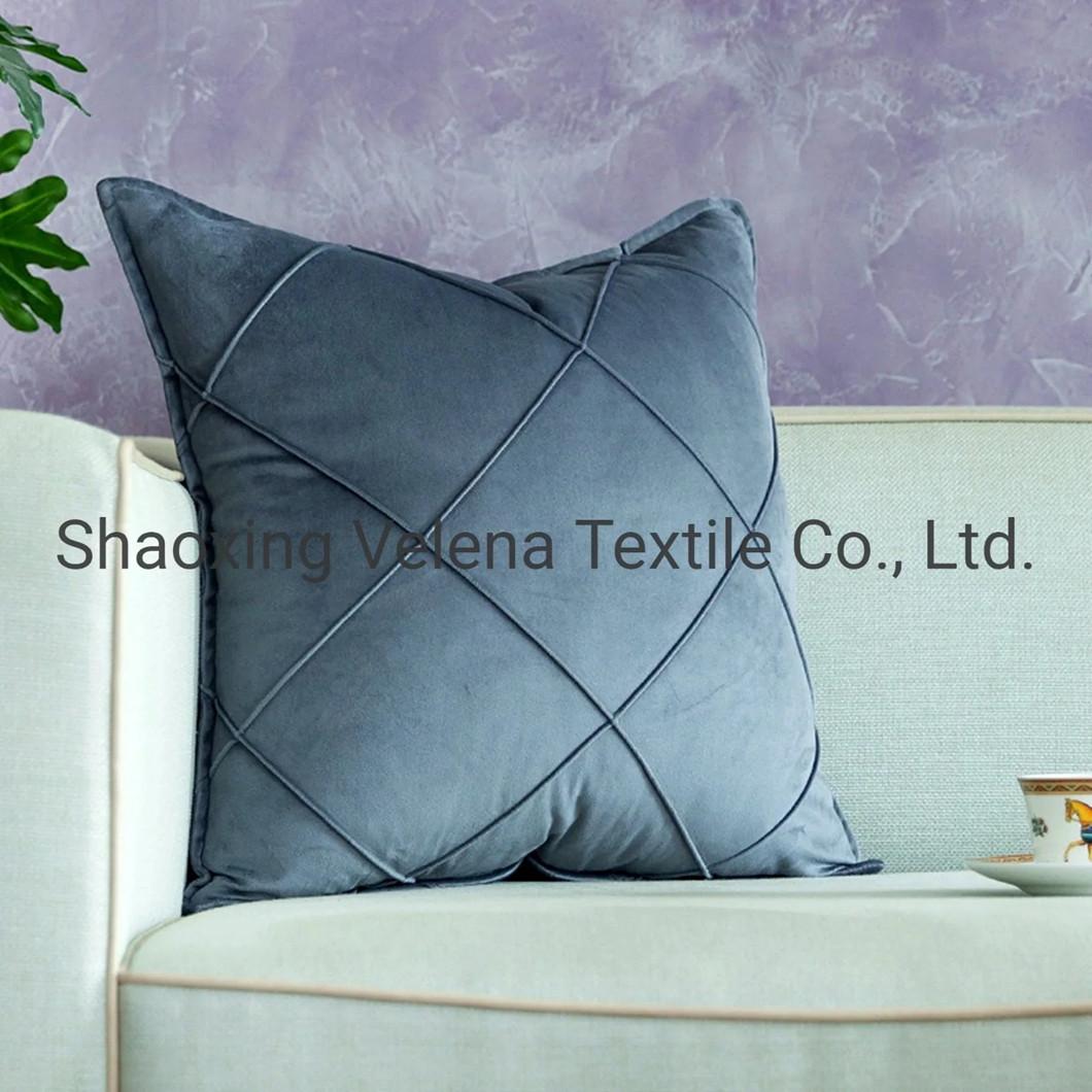 Autumn Winter Cross Knitted Velvet Outdoor Custom Pillow Sofa Seat Cushions Fabric