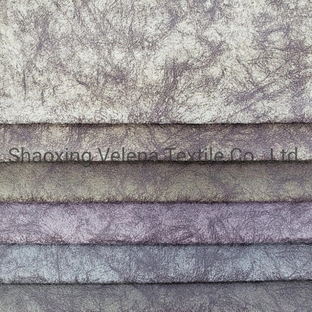 2021 Hot Sale Holland Velvet with Glue Emboss Upholstery Furniture Sofa Fabric
