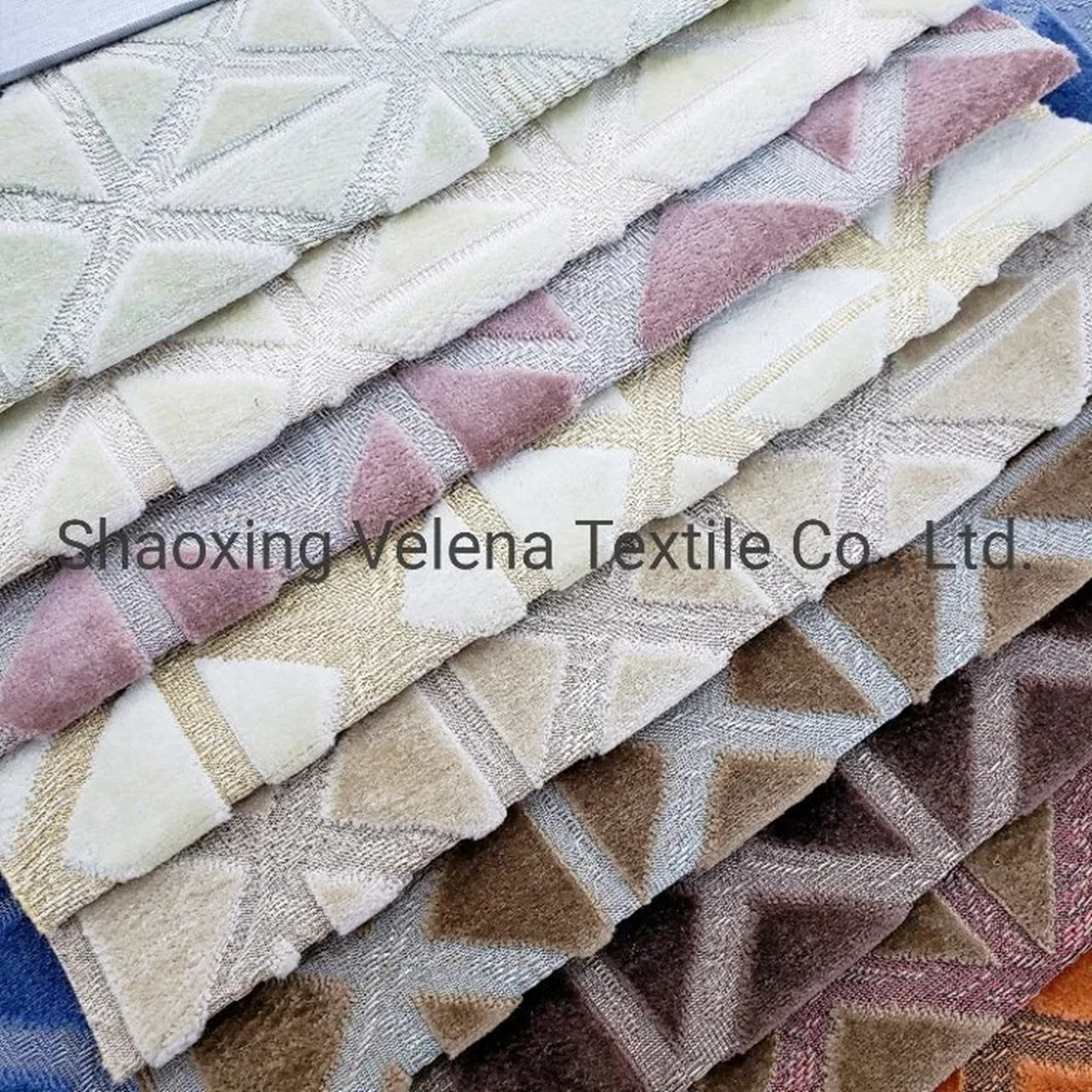 High Quality Woven Velvet Jacquard Upholstery furniture Fabric for Sofa Pillow Home Textile