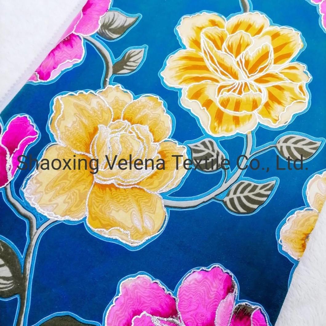 New Arrival FDY Velvet Print with Foil Home Textile Sofa Curtain Fabrics