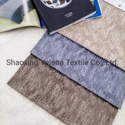 Holland Velvet Dyeing with Glue Emboss Upholstery Sofa Furniture Home Textile Fabric