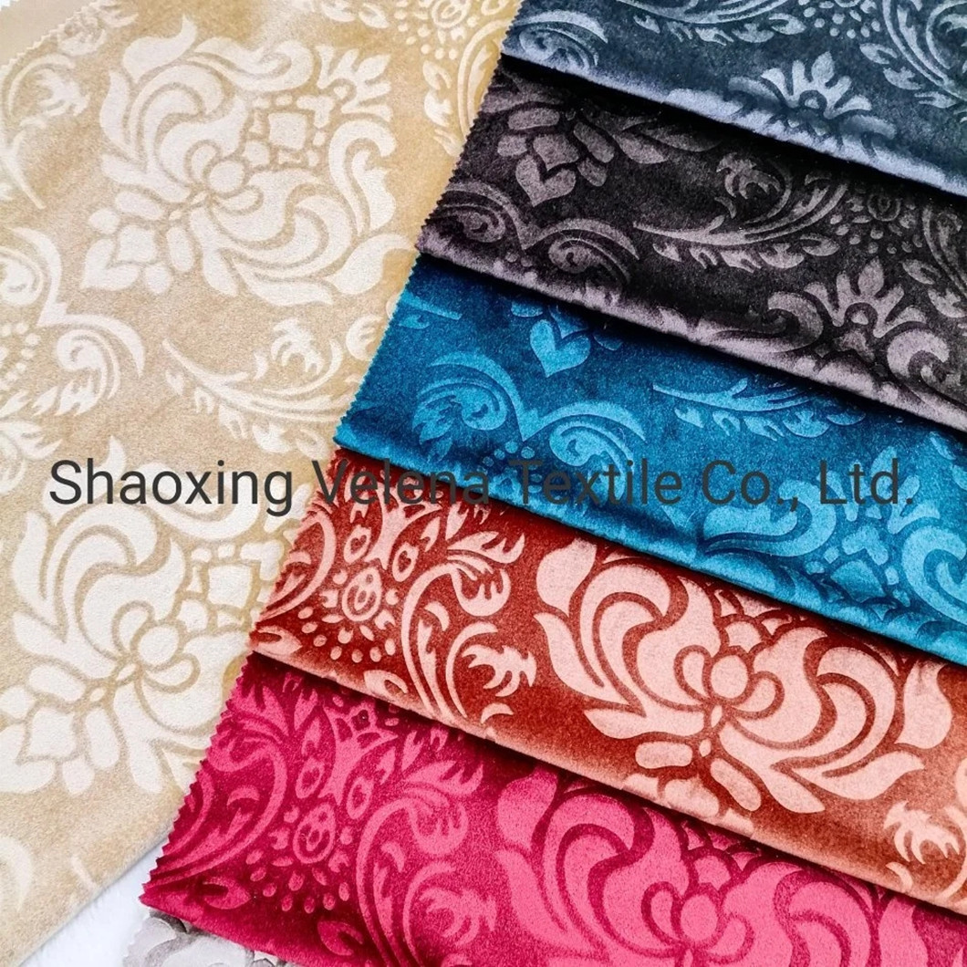 New 3D Emboss Knitting Curtain Shiny Velvet Upholstery Home Textile