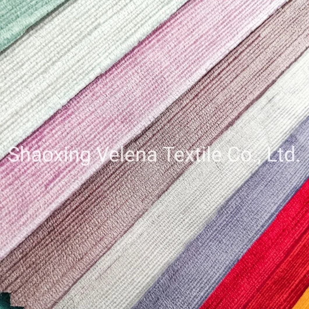 New Arrival Holland Velvet with Burn-out Textile Fabric Upholstery Furniture Fabric for Sofa