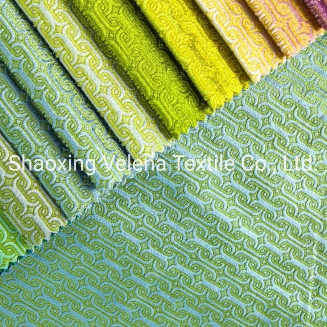 Holland Velvet Glue Embossed Textile Fabric Upholstery Sofa Fabric