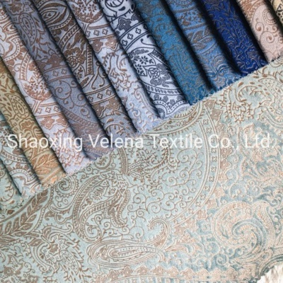 Holland Velvet Fabric with Glue Embossed Home Textile Sofa Fabric
