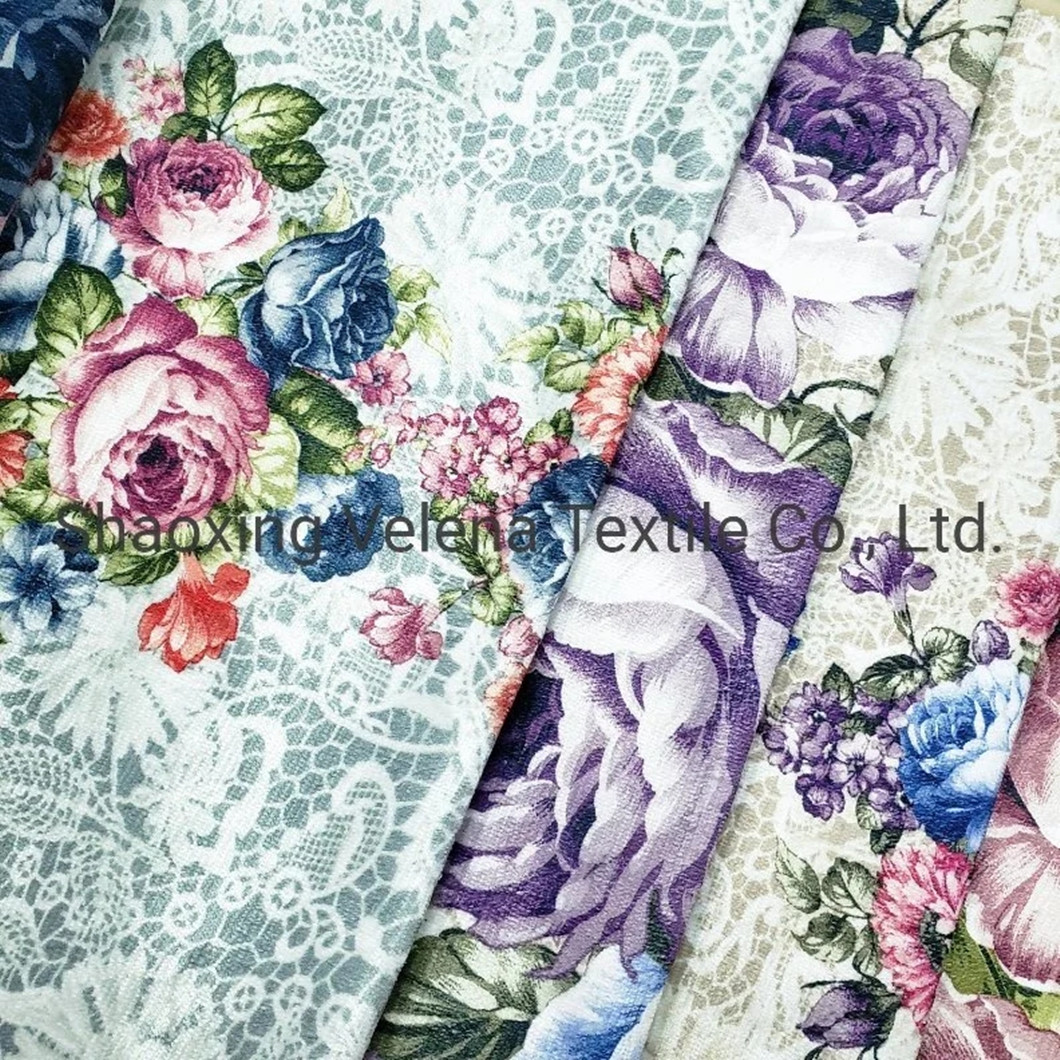 New Arrival Polyester Velvet Printed Furniture Fabric for Home Textile