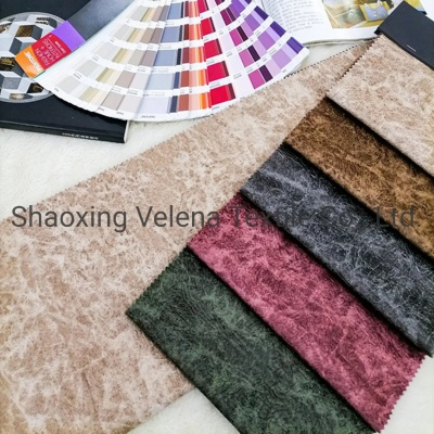 Printed and Embossed Holland Velvet Fabric Upholstery Fabric for Sofa