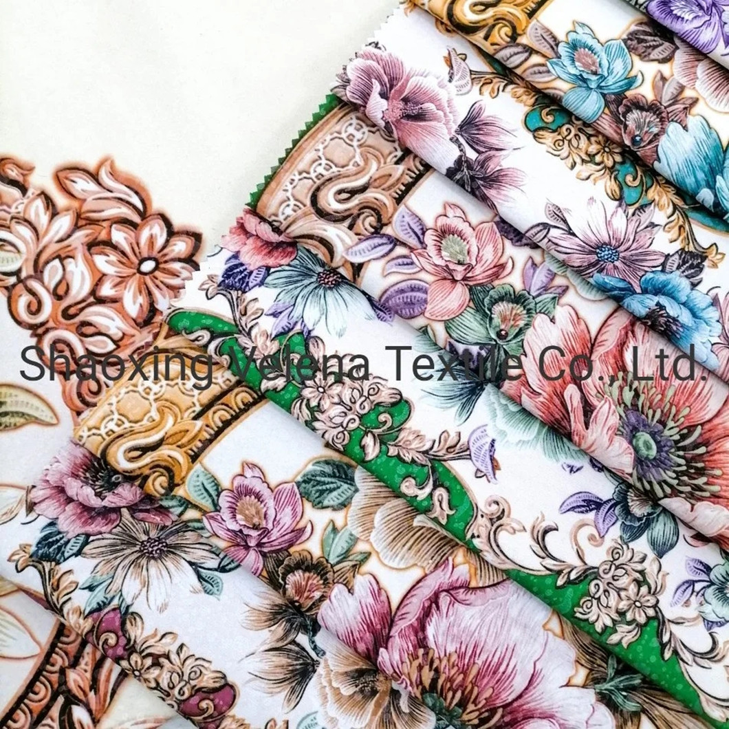 Polyester Fudan FDY Velvet Printed Upholstery Furniture Sofa Textile Fabric