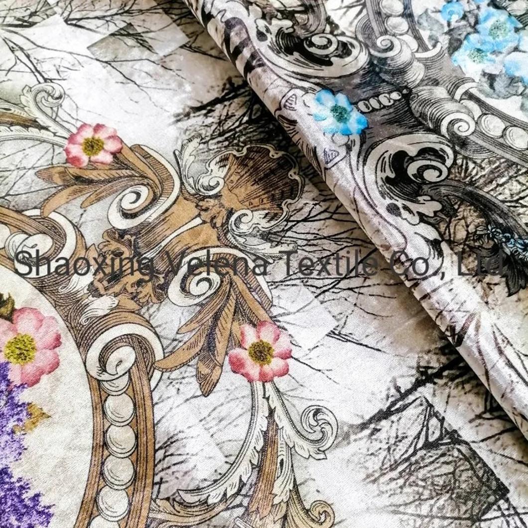 Hot Sale FDY Venisia Fudan Velvet Printing Sofa Curtain Fabric
