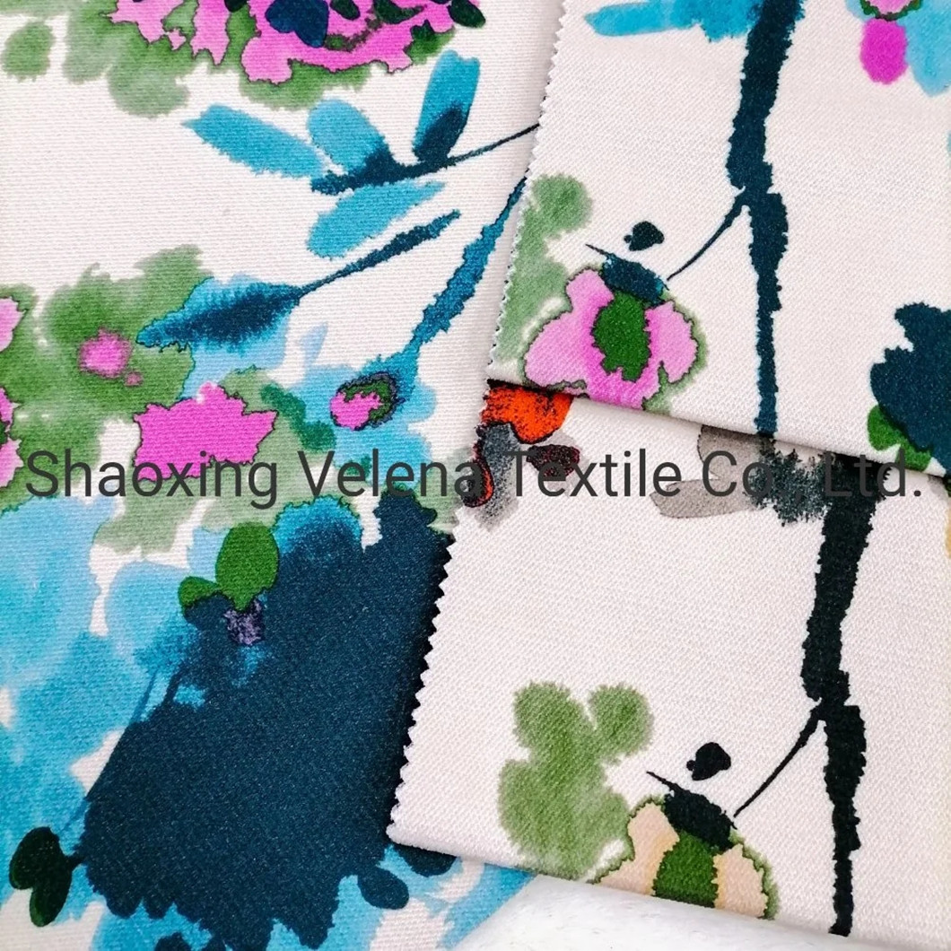 High Quality Jaguar Velvet Printed Upholstery Home Textile Fabric