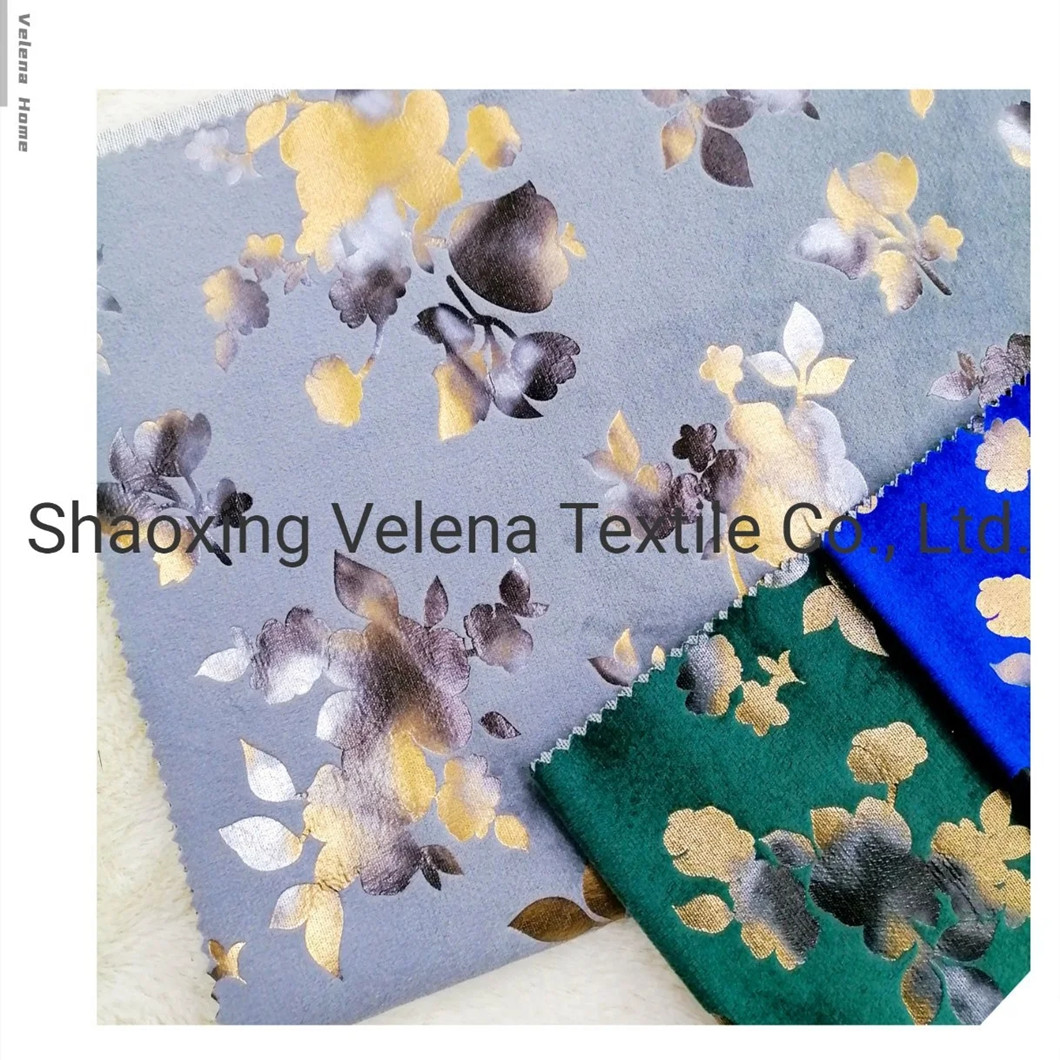 New Arrival Holland Velvet Dyeing with Colorful Foil Upholstery Fabric