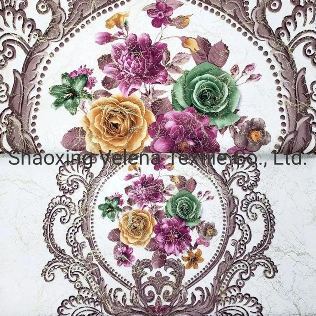 Digital Printing with Foil Velvet Sofa Fabrics Hot Sell in Morroco Market