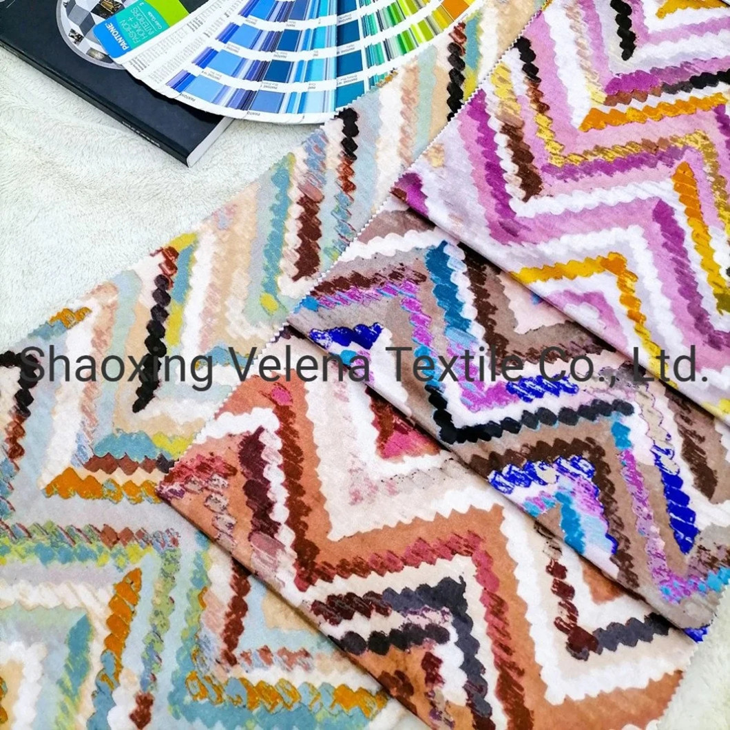 Polyester FDY Fudan Digital 3D Printed Upholstery Furniture Fabric for Sofa