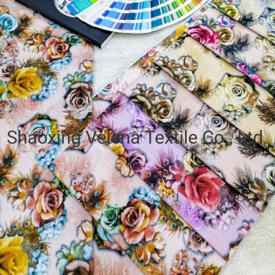 New Design FDY Fudan Velvet Fabric Digital Printing Sofa Curtain Cushion Fabric