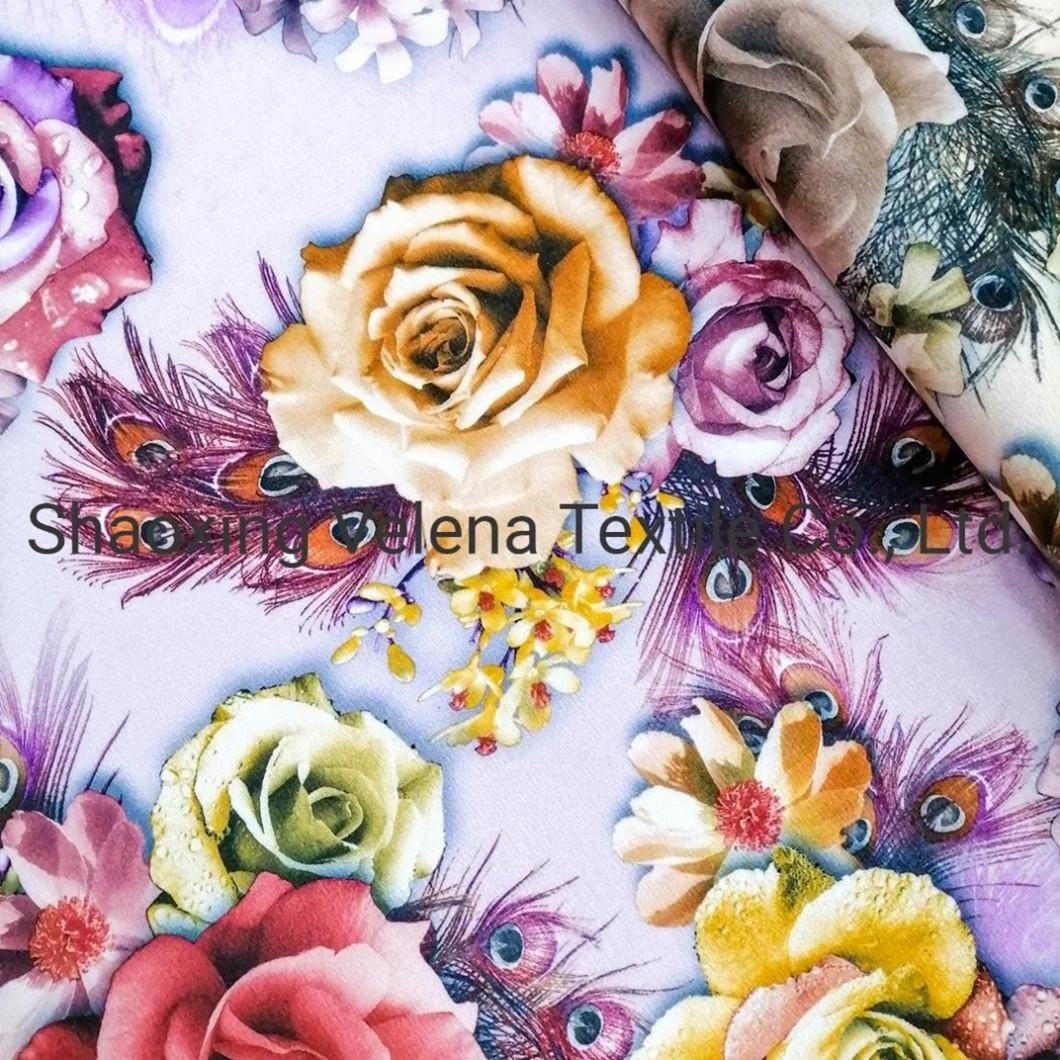 New Design FDY Fudan Velvet Fabric Digital Printing Sofa Curtain Cushion Fabric